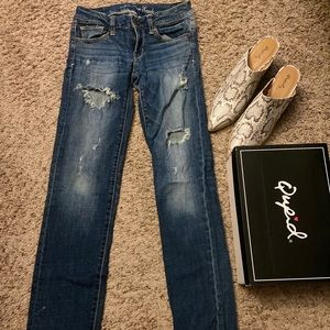 Usesd american eagle jeans size 00 Good quality
